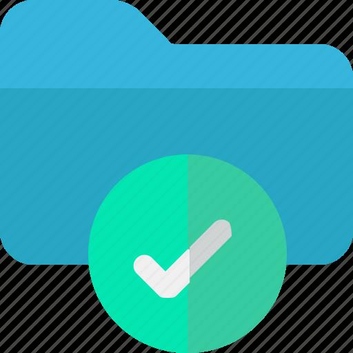 archive, check, data, folder icon