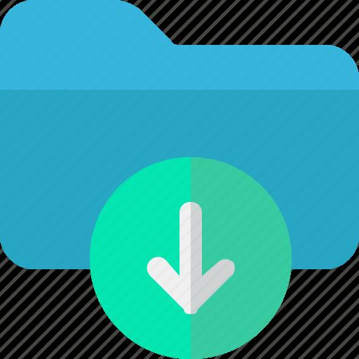 archive, data, download, folder icon