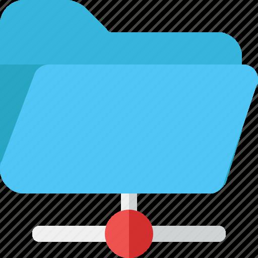 folder, open, share icon