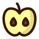 apple, food, fruit, fruits, healthy, slice, sweet icon