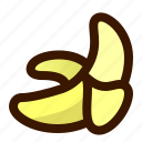 banana, food, fruit, fruits, gastronomy, healthy, peeled icon