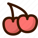berry, cherries, food, fruit, fruits, healthy, sweet icon