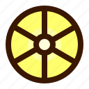 food, fruit, fruits, healthy, lemon, slice icon