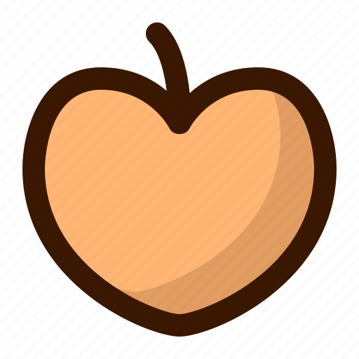 food, fruit, fruits, gastronomy, healthy, peach, sweet icon
