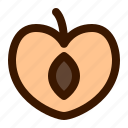 food, fruit, fruits, gastronomy, peach, slice, watermelon icon