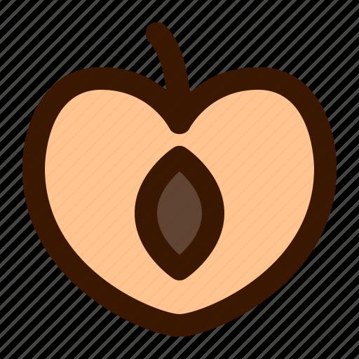 food, fruit, fruits, gastronomy, peach, slice, watermelon icon