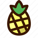 food, fruit, fruits, healthy, pineapple, sweet, tropical icon