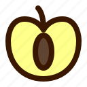 food, fruit, fruits, healthy, open, plum, sweet icon
