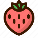 food, fruit, fruits, healthy, strawberry, sweet icon