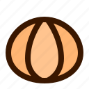 food, fresh, fruit, fruits, peeled, tangerine, tropical icon