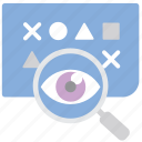 consent, data, eye, transparency icon