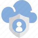 cloud, data, lock, personal icon