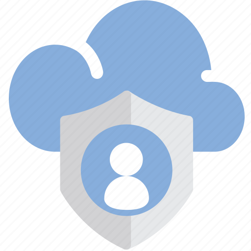 cloud, data, lock, personal icon