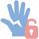 breaches, lock, penalty, warning icon