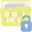 access, breaches, data, folder icon