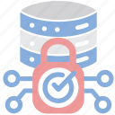 lock, protection, server, storage icon