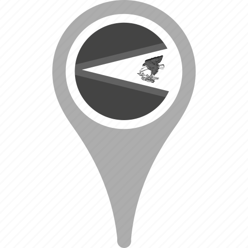 american samoa, country, county, flag, map, national, pin icon