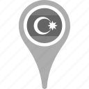 azerbaijan, country, county, flag, map, national, pin icon