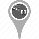 bermuda, country, county, flag, map, national, pin icon