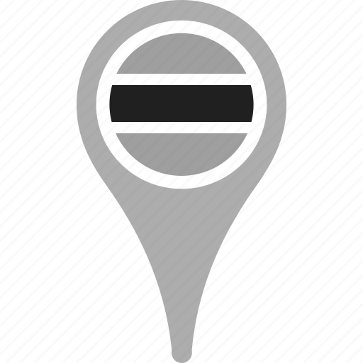 botswana, country, county, flag, map, national, pin icon