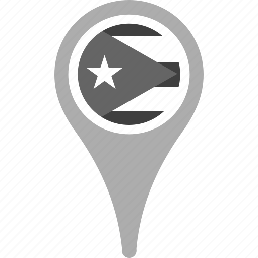 country, county, cuba, flag, map, national, pin icon