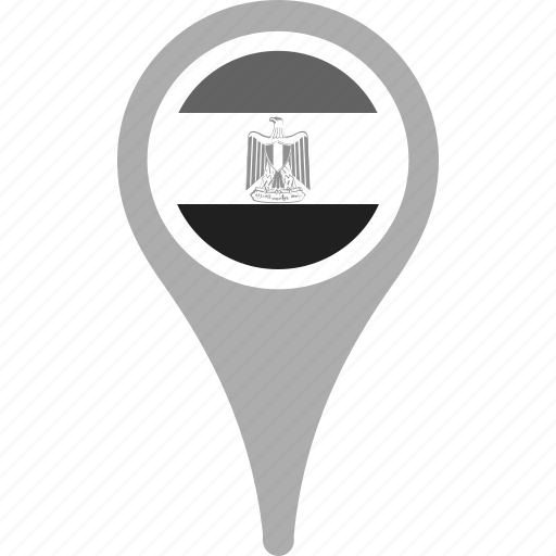 country, county, egypt, flag, map, national, pin icon