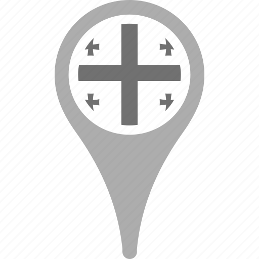 country, county, flag, georgia, map, national, pin icon