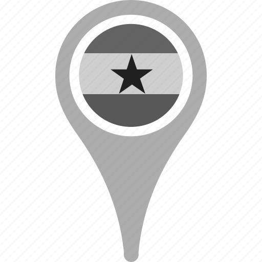 country, county, flag, ghana, map, national, pin icon
