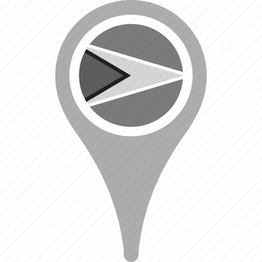 country, county, flag, guyana, map, national, pin icon