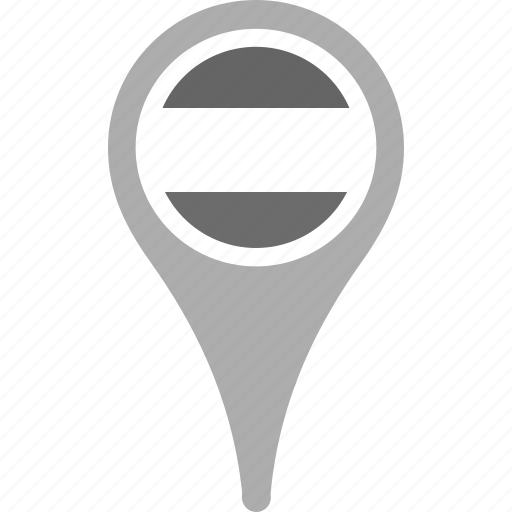 country, county, flag, hungary, map, national, pin icon