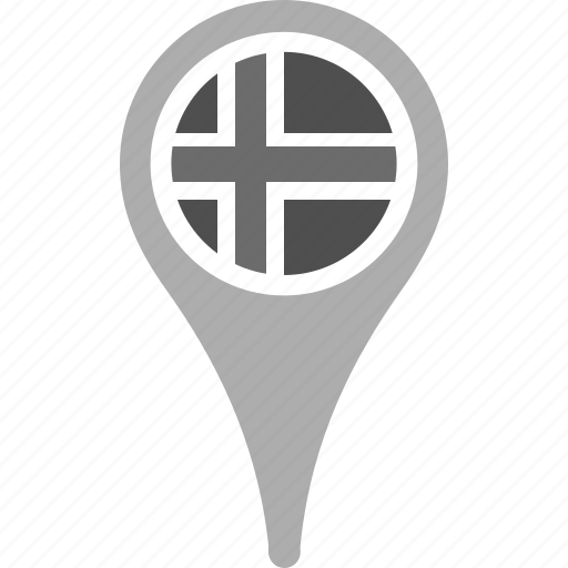 country, county, flag, iceland, map, national, pin icon