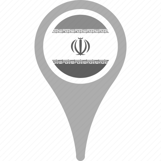 country, county, flag, iran, map, national, pin icon