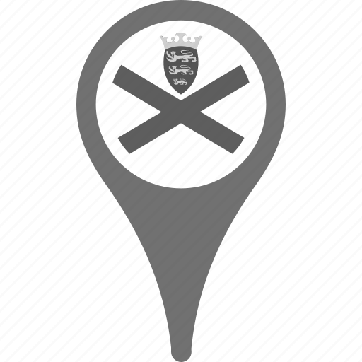 country, county, flag, jersey, map, national, pin icon