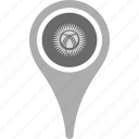 country, county, flag, kyrgyzstan, map, national, pin icon