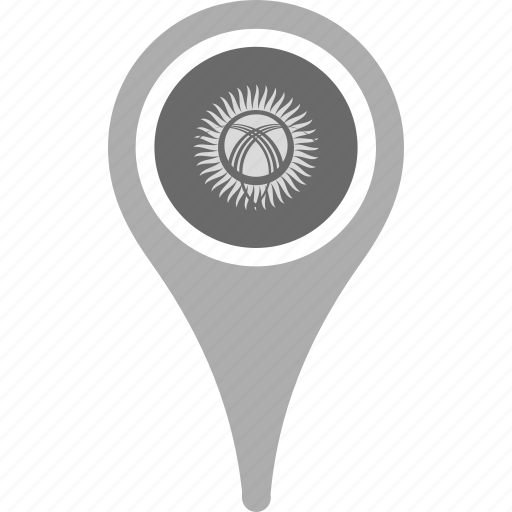 Map, kyrgyzstan, pin, country, national, county, flag icon