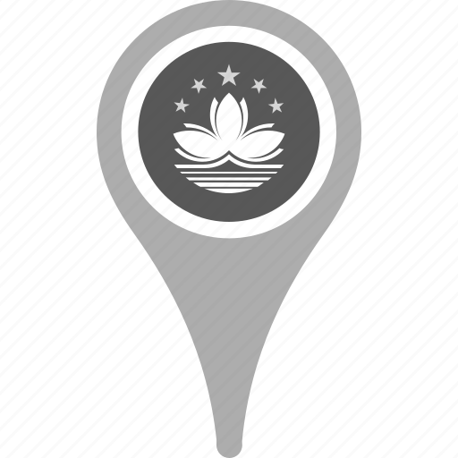 country, county, flag, macau, map, national, pin icon