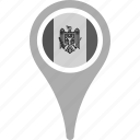 country, county, flag, map, moldova, national, pin icon