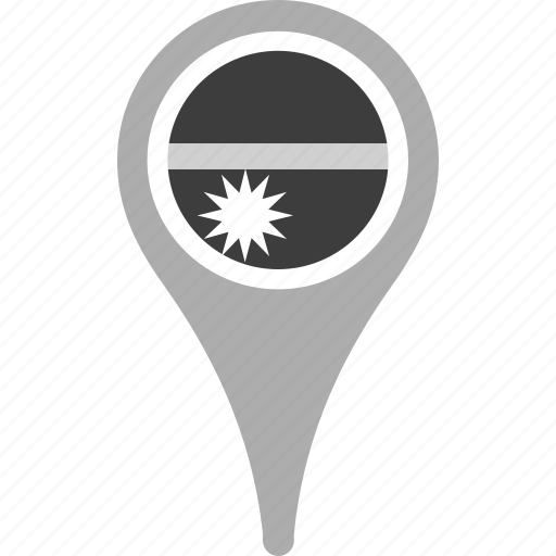 country, county, flag, map, national, nauru, pin icon