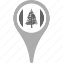country, county, flag, map, national, norfolk island, pin icon