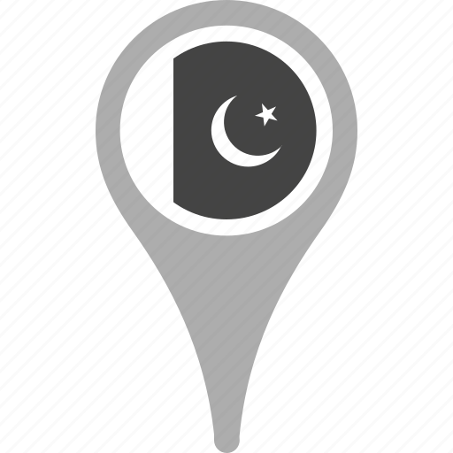 country, county, flag, map, national, pakistan, pin icon