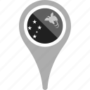 country, county, flag, map, national, papua new guinea, pin icon