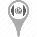 country, county, flag, map, national, peru, pin