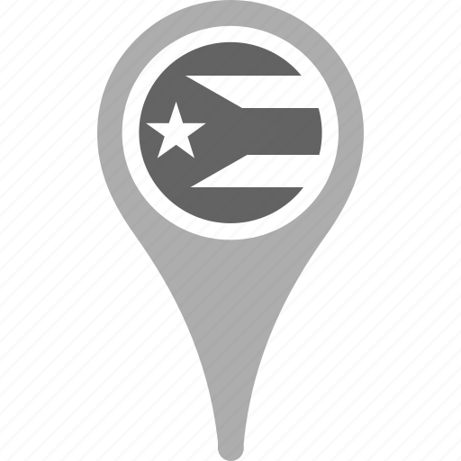 country, county, flag, map, national, pin, puerto ricol icon