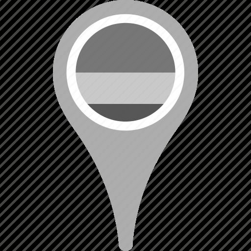 country, county, flag, map, national, pin, rwanda icon