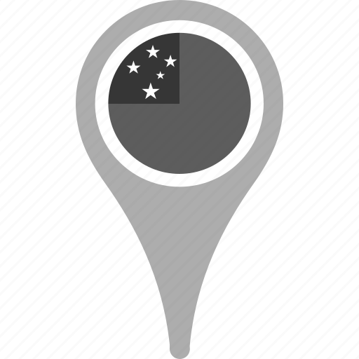 country, county, flag, map, national, pin, samoa icon