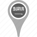 country, county, flag, map, national, pin, saudi ×arabia icon