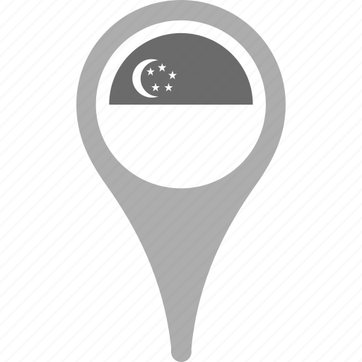 country, county, flag, map, national, pin, singapore icon