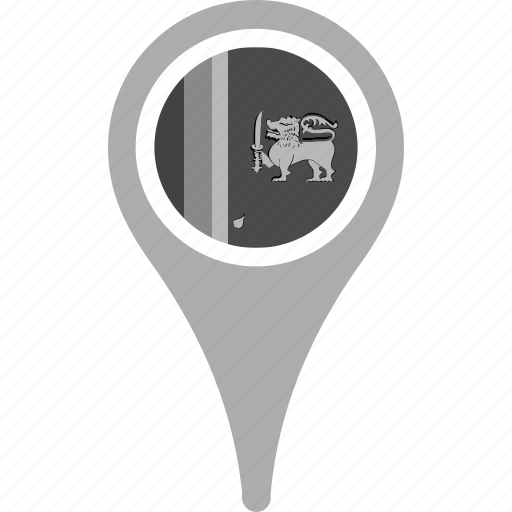 country, county, flag, map, national, pin, sri lanka icon