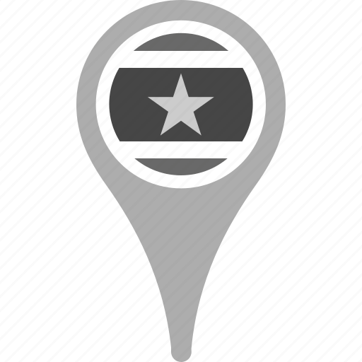 country, county, flag, map, national, pin, suriname icon