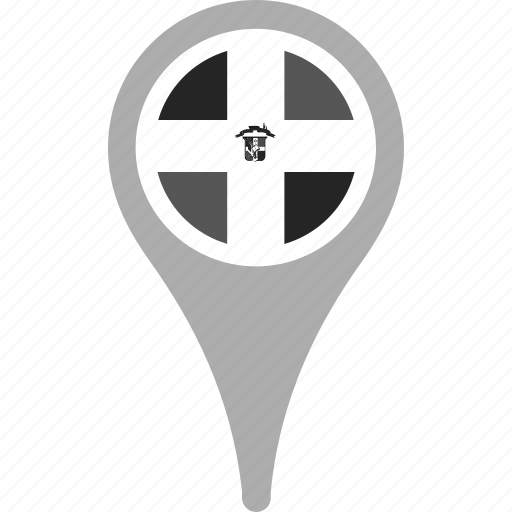 country, county, flag, map, national, pin, the dominican republic icon